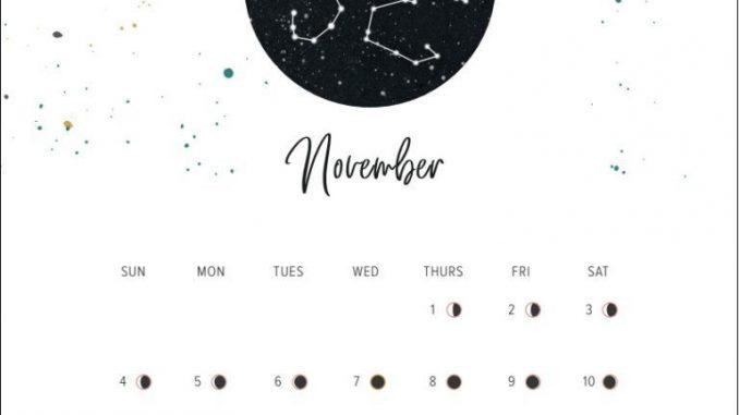 New Moon November 2019 Calendar