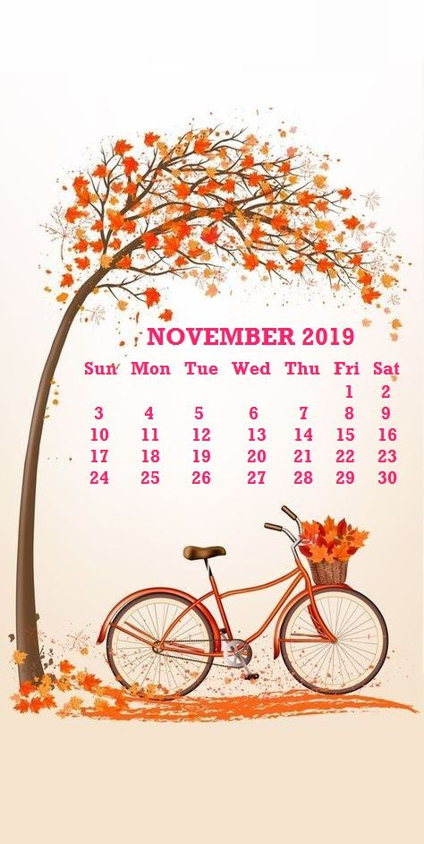 November 2019 iPhone Calendar Wallpaper