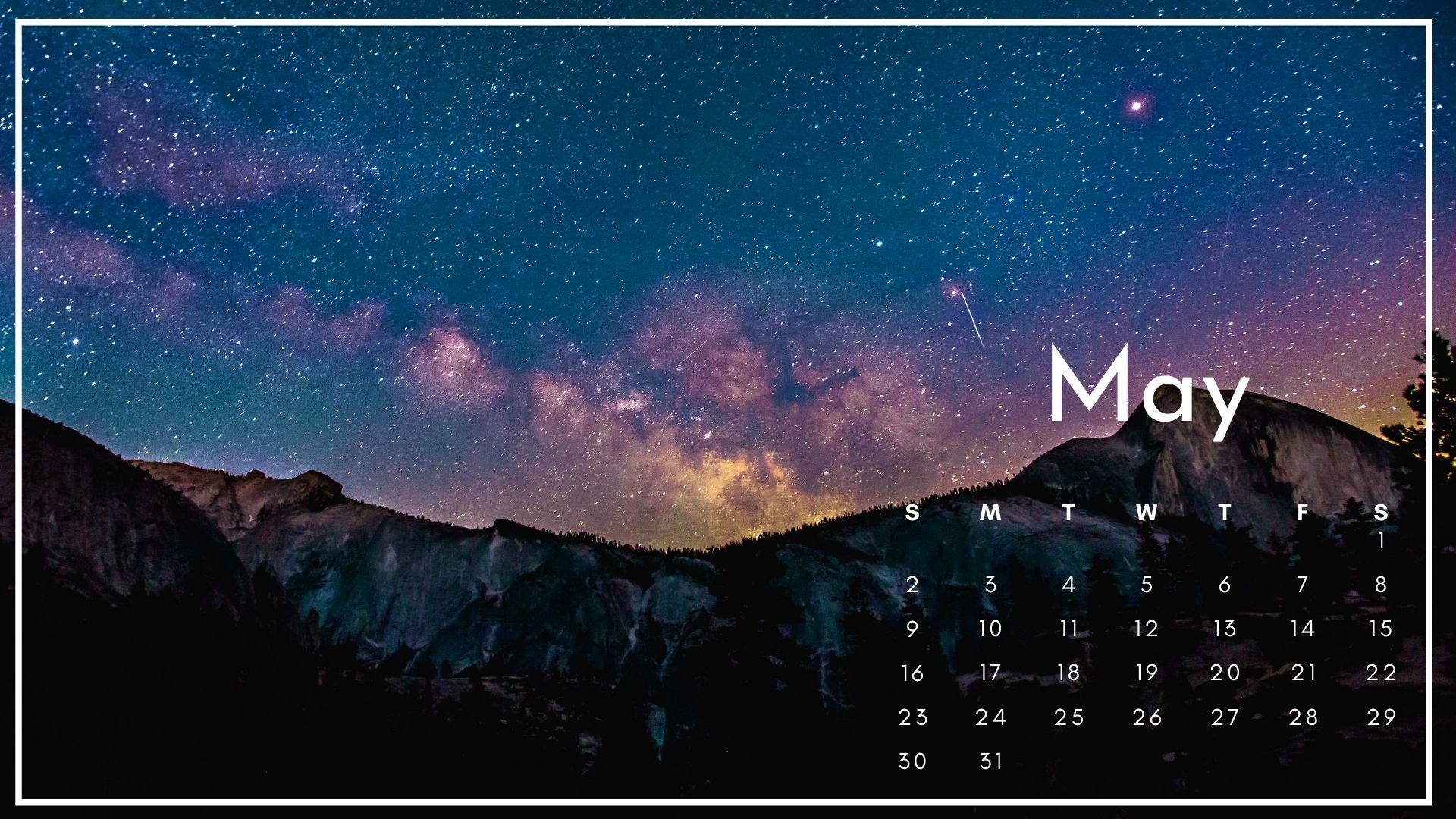 May 2021 Calendar Nature Wallpaper