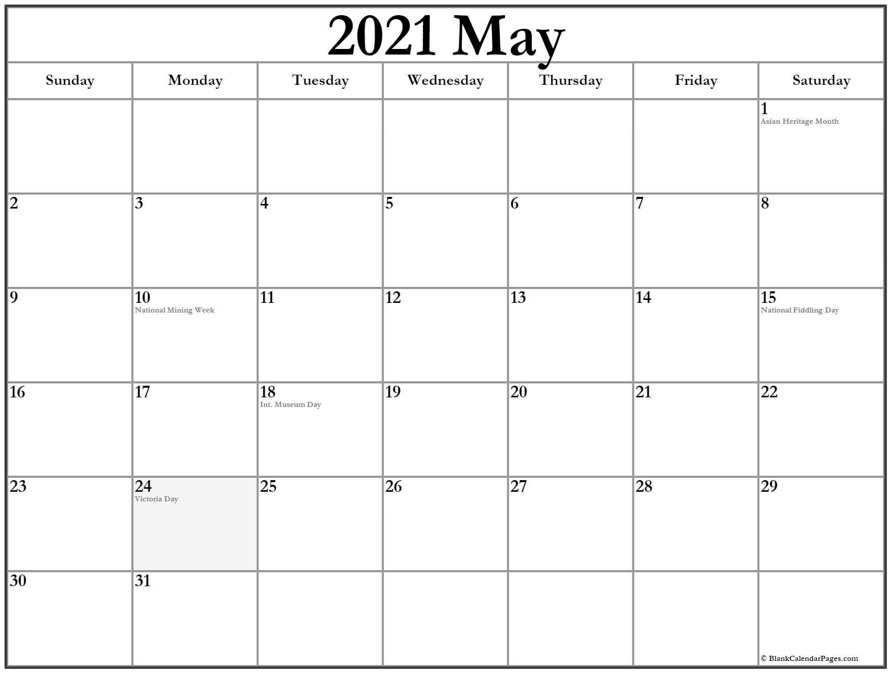 may calendar 2021 editable template