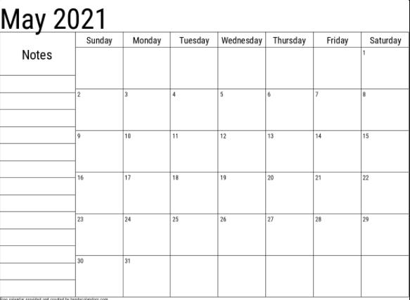 may 2021 editable calendar excel