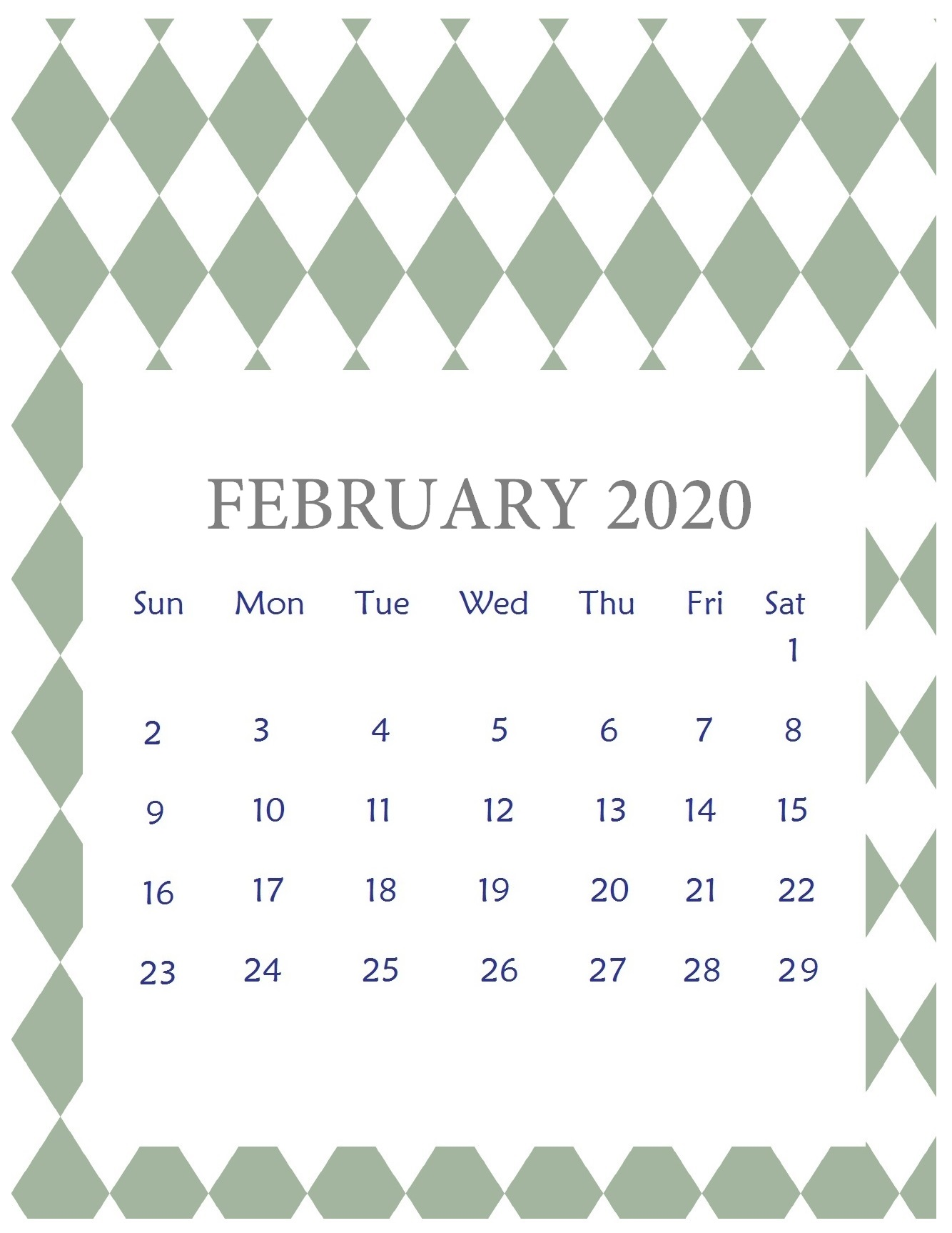 February 2020 Calendar HD Wallpaper