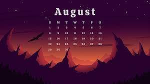 Floral August 2021 Calendar Printable