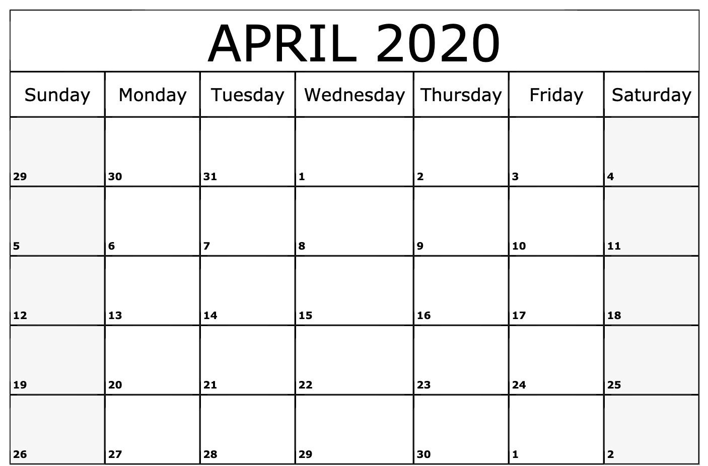 Full Moon Calendar for April 2020