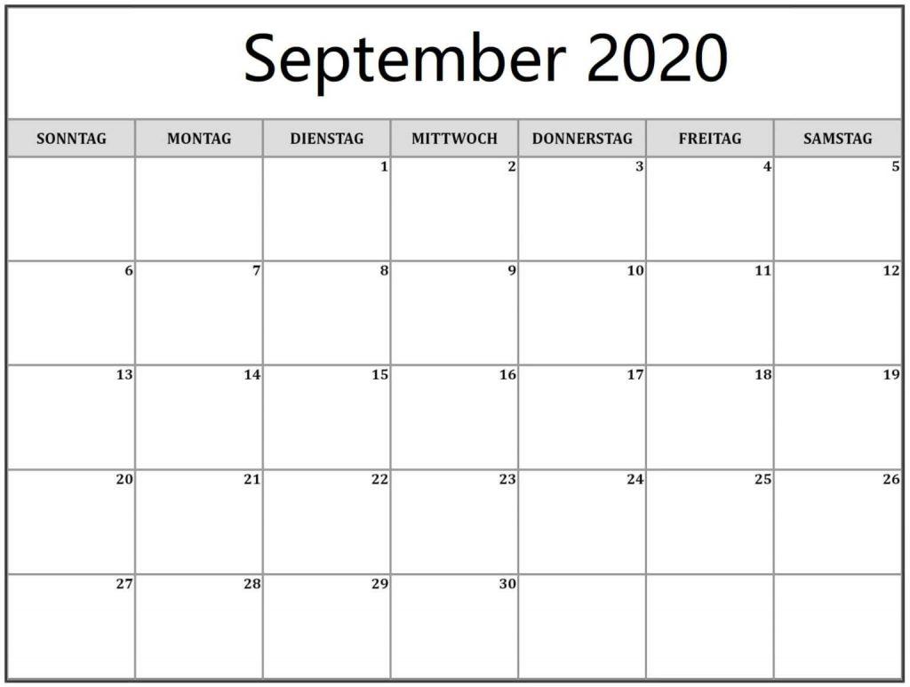 Kalender September 2020 Mit Feiertagen Malaysia